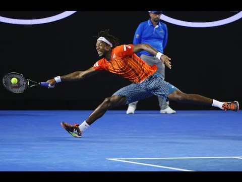 Gael Monfils v Milos Raonic highlights (QF)   Australian Open 2016