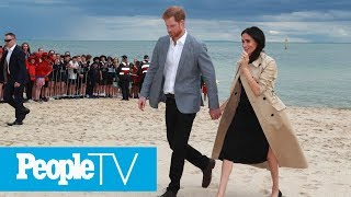 Meghan Markle And Prince Harry Hit The Beach In Australia | PeopleTV