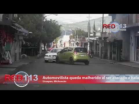 VIDEO Automovilista queda malherido al ser atacado a balazos en Uruapan