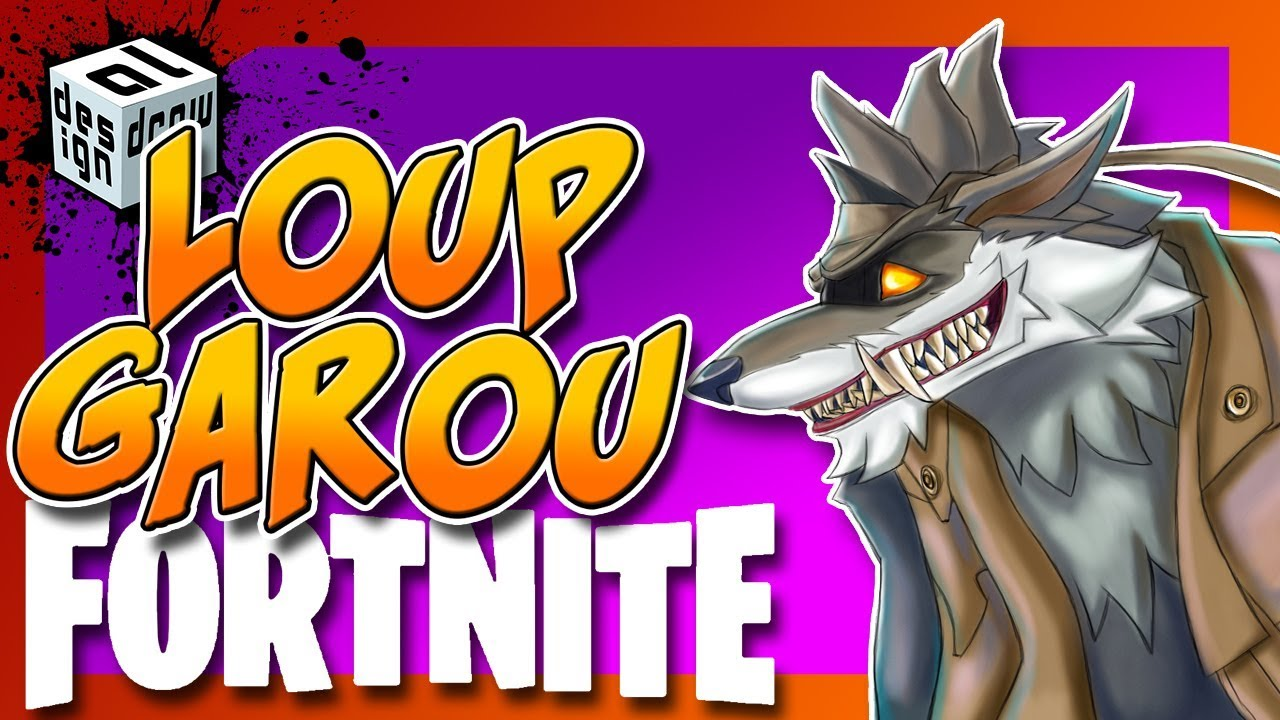 How To Draw Dessin Speed Painting Le Skin Loup Garou Fortnite