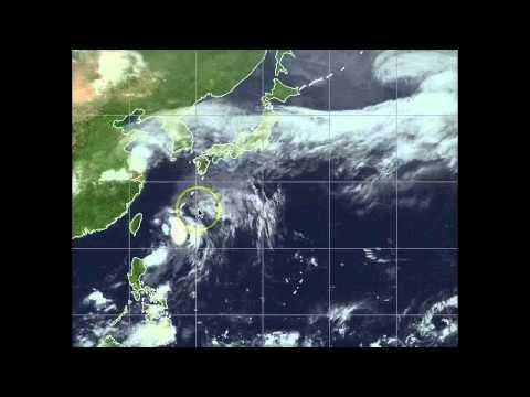 11 May 2011 Tropical Storm Aere / Bebeng, Okinawa Landfall