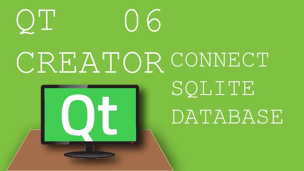 QT Creator 06 How to connect sqlite database