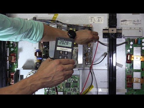 How to properly check voltages inside PLASMA TV service guide