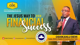 The Jesus way to financial success   Remi Oshikanlu   11th April 2021