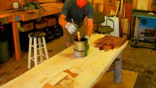 How To Make A Rustic Plank Table By Jim The Rustic Furniture Artist Part 45