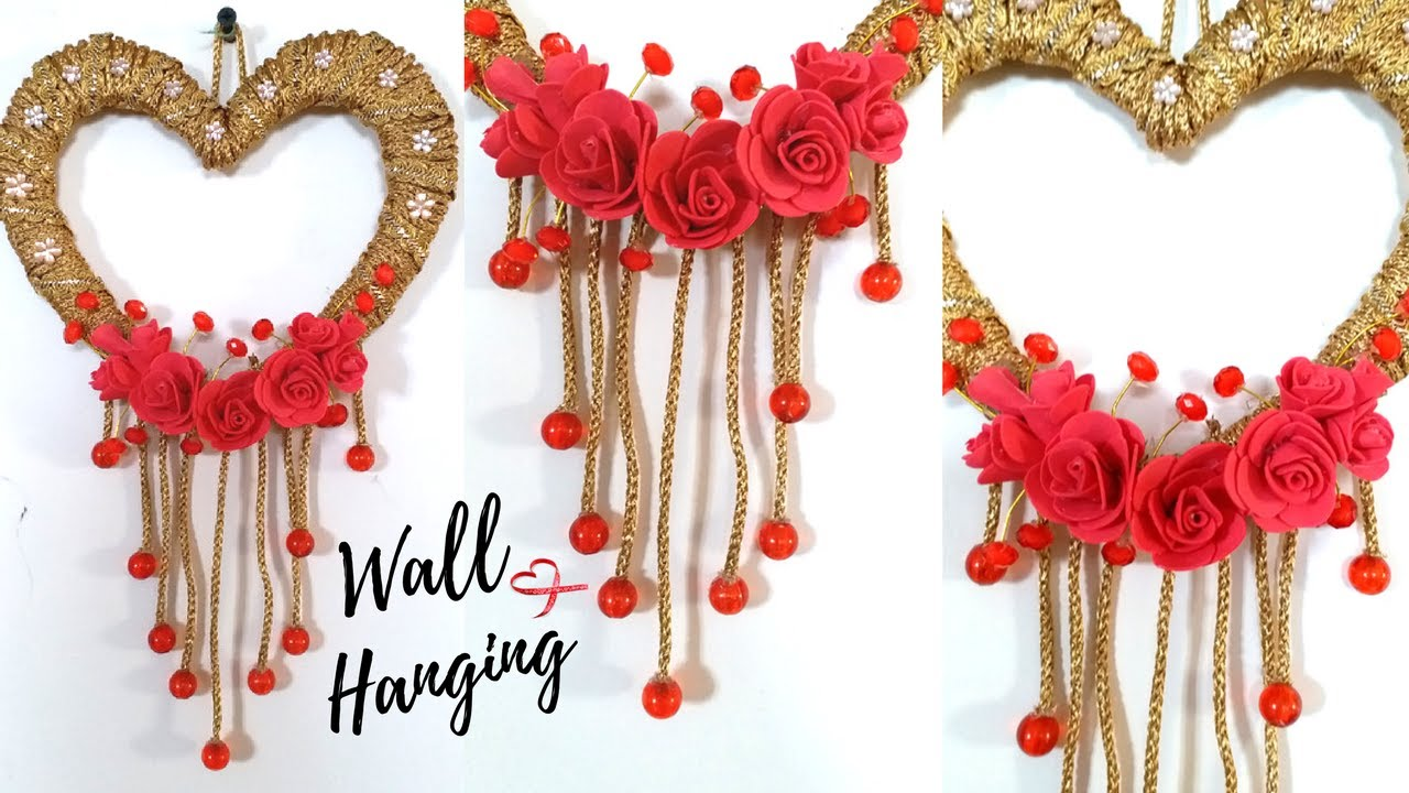 Wall Hanging Ideas new heart wall hanging craft ideas - easy wall decoration ideas