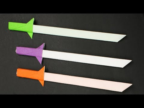 Easy Origami Paper Sword/Knife - How to Make Ninja Sword/Knife Step by Step