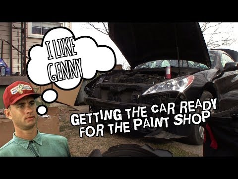 piecing the Copart Hyundai Genesis Coupe 2.0t back together