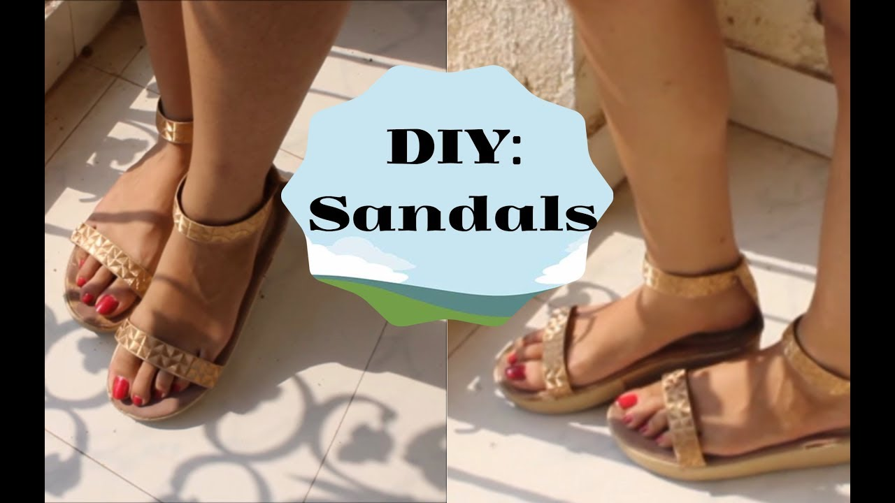 744a68637b44 Recycle Old footwear to classy Gold sandals