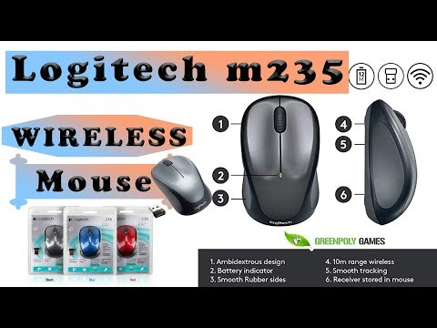 Unboxing and Review Logitech m235 Wireless Mouse #greenpolygames