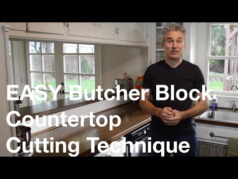 Easy Ikea Butcher Block Countertop Cutting Technique Youtube