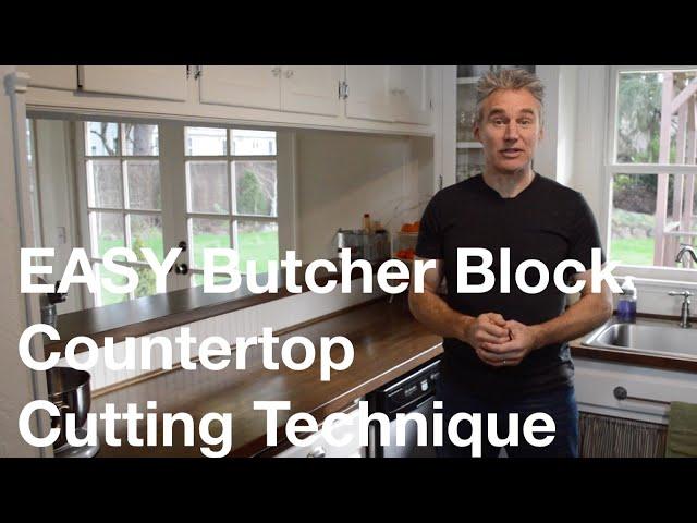 Easy Ikea Butcher Block Countertop Cutting Technique Youtube
