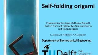 Self-folding origami