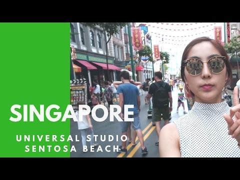 Singapore Travel Vlog 3 l Universal Studio & Sentosa Beach 싱가폴 여행 유니버셜스튜디오, 센토사섬