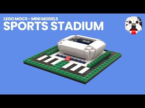 Lego Mocs Mini Lego Sports Stadium Youtube