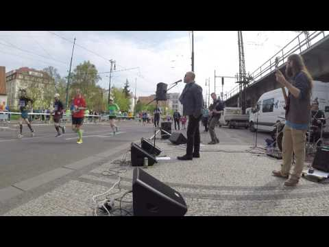 Prague Marathon 2017 in 30 minutes  - Street Rock Band View