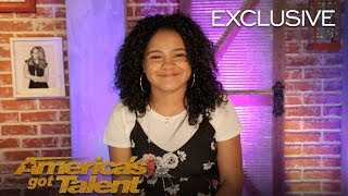 Amanda Mena Chats About Earning Golden Buzzer From Mel B - America's Got Talent 2018
