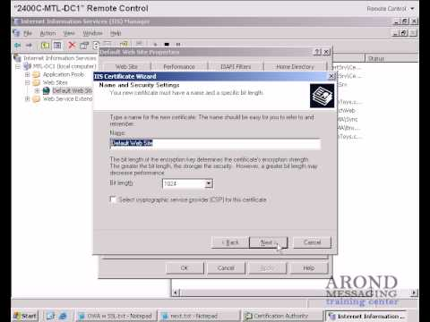 How To Secure Exchange 2003 OWA with SSL