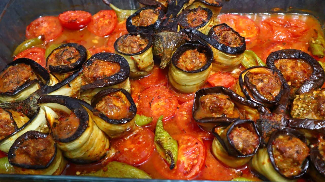 FIRINDA MÜKEMMEL BİR ESER PATLICAN KEBABI (Baked Eggplant Kebab Recipe)