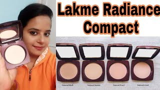 Lakme Radiance compact Review shades Prize Demo Stay beautiful with SHAVI