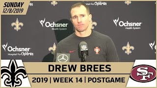 Drew Brees Postgame Reactions After Week 14 loss vs 49ers | New Orleans Saints Football