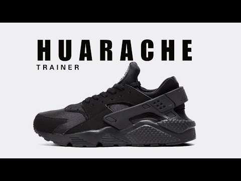 0cedcefa57b8 NIKE Air Huarache Trainer Triple Black UNBOXING + CLOSER LOOK  huarache   nike  trainer
