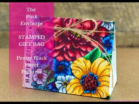 Stamped Gift Bags With Penny Black Sweet Perfume