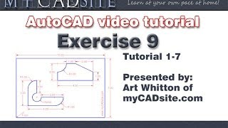 AutoCAD assignment for beginners - Extra #9