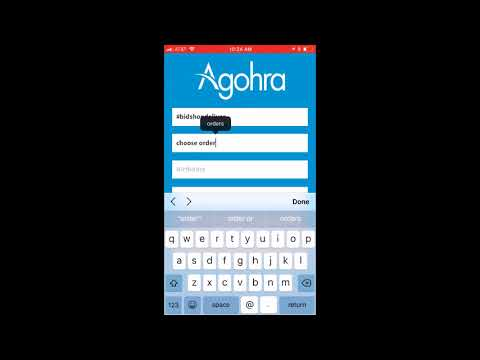 Agohra App How to create an account Order and Delivery IOS Apple