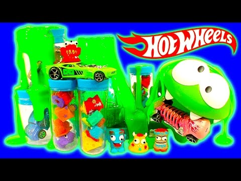 Hot Wheels Color Splash & Trash Science Lab Color Shifter Ooze Volcano FUN