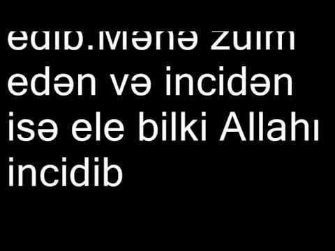 Hacı Şahinə atılan böhtana cavab-Əbubəkir və Ömərin Hz Fatiməyə etdiyi zülmlər