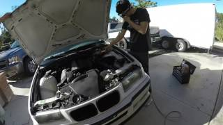 bc coilovers install part 1 my e36