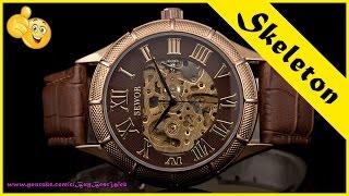 Механические часы с Алиэкспресс | Недорогие часы наручные мужские механические Skeleton.(, 2016-09-11T08:09:43.000Z)
