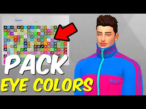 PACK EYE COLORS   THE SIMS 4 - YouTube