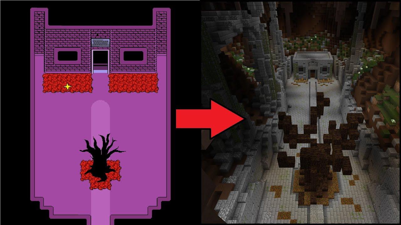 Castle Blueprint Minecraft Toriel S House Undertale Build Youtube