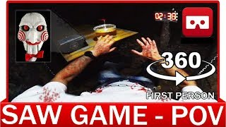 360° VR VIDEO - SAW Want Play a Game - Point of View First Person - Saw Legacy - Virtual Reality 3D