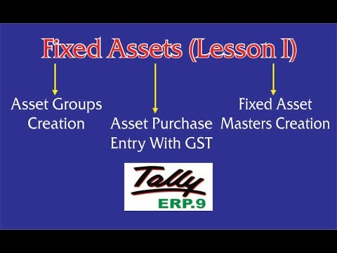 Fixed Asset Purchase Entry With GST || Asset Groups || Asset Masters in Tally ERp.9
