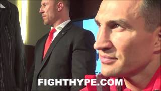 WLADIMIR KLITSCHKO UNBOTHERED BY TYSON FURY'S GLOVE ISSUE; SAYS REALITY IS SETTING IN FOR HIM