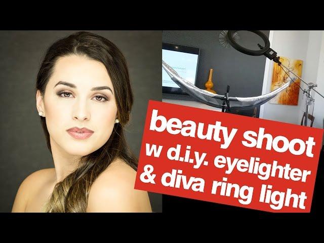 Beauty Portrait Shoot with ring light & DIY Eyelighter Reflector | John