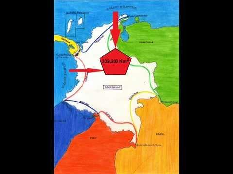 fronteras extension territorial de colombia