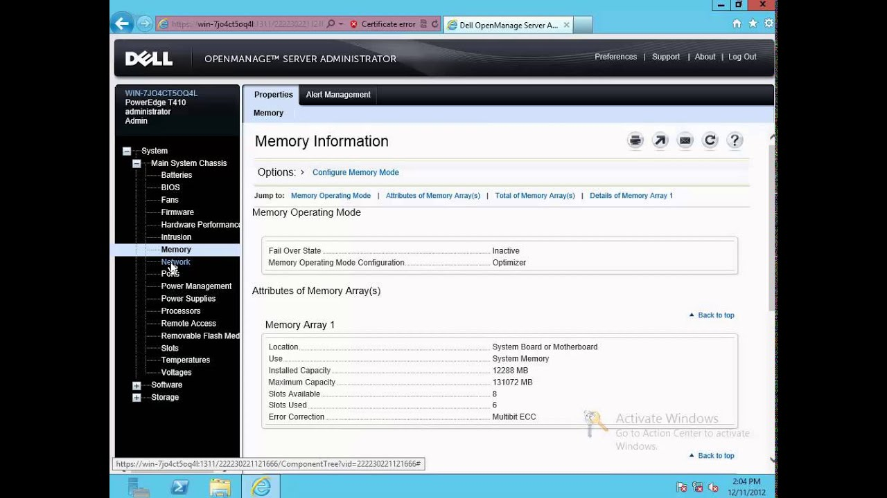 dell open manage server administrator