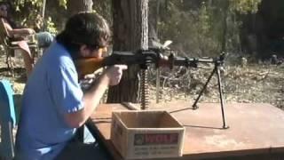 firing belt fed machine guns m60 m249 rpd