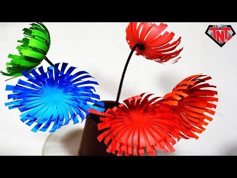 How To Make Paper Spider Mums    DIY Paper Flower    Paper Craft