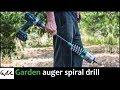 Making Garden Spiral Hole Drill Planter