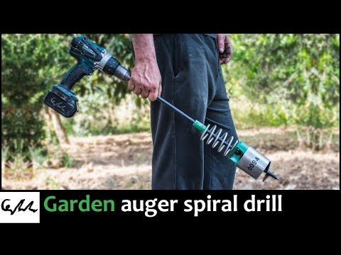 Making Garden Spiral Hole Drill Planter