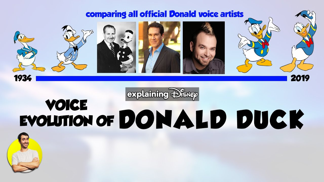 Voice Evolution Of Donald Duck Over 85 Years All Voice Actors Comparison 1934 2019 Compared Youtube