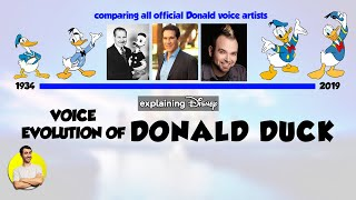 Voice Evolution of DONALD DUCK Over 85 Years (All Voice Actors Comparison 1934-2019) Explained thumbnail