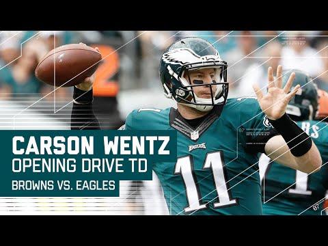 Carson Wentz Leads Impressive Opening Drive TD! | Browns vs Eagles | NFL