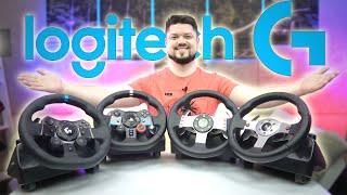 Сравнение всех рулей Logitech G25 G27 G29 G923