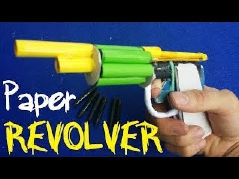 How to Make an Automatic Paper Revolver That Shoots 6 Bullets
